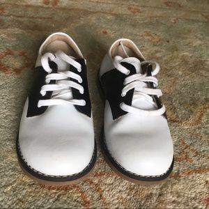 SOLD Footmates Saddle Shoes Black & White Leather